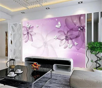 Wholesale purple wallpaper for living room resale online - 2019 New Big Promotion For Wallpaper Purple Dreams like butterflies to customize your favorite romantic wall paper