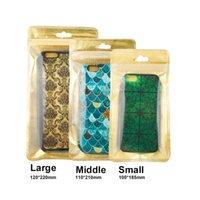 nota3 cubre al por mayor-500pcs venden al por mayor la bolsa de regalo plástica del oro del bolso de empaquetado de la cremallera plástica del tamaño 3 para la cubierta del teléfono para el iPhone 5s / 6s / 6 más Samsung s4 / s5 / note3