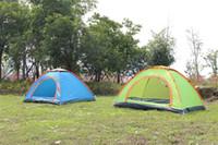 schnelles öffnen großhandel-Doppel Person Outdoor Zelt Vollautomatische 2 Sekunden Schnell Automatische Öffnung Camping Tabernakel Solide Durable Feuchtigkeitsfest Heißer Verkauf 45xyI1