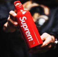 aluminiumsport großhandel-18SS Traveller Wasserflasche SUP Neues Design Aluminium Sportflaschen Kreative Tragbare Wasser Tasse Weihnachtsgeschenk Drink