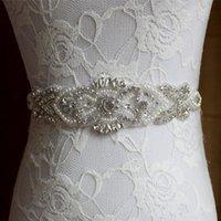 ingrosso fornitori nuziali-Fedi nuziali Perle fatte a mano Strass Wedding Sash nuziale 2019 Nuova cintura nuziale formale in magazzino Fornitore di fabbrica