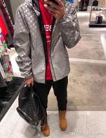 jaquetas reflexivas para homens venda por atacado-19ss primavera nova marca de luxo design Completo Logos 3 M reflexivo Jaqueta Mulheres Homens Casual Camisolas Streetwear Jaquetas Ao Ar Livre