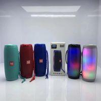 usb ses çubuğu toptan satış-TG157 LED Lamba Bluetooth Hoparlörler Kablosuz Su geçirmez Radyo FM Radyo Mini Kolon Bass desteği USB TV Ses Bar Kutusu