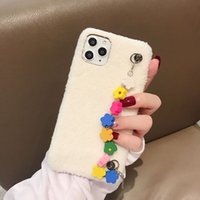 Wholesale plush for phone online – custom For Iphone Pro Phone Case Xs Max Xr Flower Chain X Plus Lamb Plush Silicone Soft Cell Phone Cases