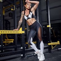 Wholesale white stitched leggings for sale - Group buy Zhangyunuo Mesh PerspectiveYoga Leggings Black and White Stitching Gym Sexy Workout Sports Pants Dry Fit Energy Fitness Legging
