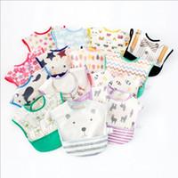 Wholesale baby bandana clothes for sale - Group buy Baby Bibs Infant Cartoon Burp Cloths INS Fashion Bandana Scarf Waterproof Cotton Feeding Saliva Bibs Kids Sleeveless Reverse Clothing E372