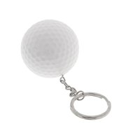 Wholesale golf pendant for sale - Group buy Golf Ball Key Chain Golf Gift Key Ring Bag Pendant Accessory