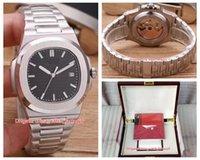 часы в форме бабочки оптовых-20 стиль высокое качество классический 40 мм Nautilus 5711 / 1A 010 Азия прозрачный механические автоматические мужские часы PP часы оригинальный футляр документы