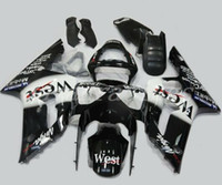 zx6r benutzerdefinierte großhandel-Neue Injection Mould Motorrad ABS Verkleidungen Kit Einbau für Kawasaki Ninja ZX6R 636 2003 2004 03 04 6R 600CC Bodywork Set Custom West