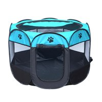 Wholesale pet playpens for sale - HOT Portable Folding Pet tent Dog House Cage Dog Cat Tent Playpen Puppy Kennel Easy Operation Octagonal Fence outdoor supplies
