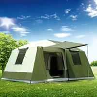 палатки один оптовых-Сверхлегкий Один Зал с Двумя Спальнями Водонепроницаемый Против Большого Дождя Палатка для Кемпинга Большая Беседка Баррака Тенте