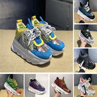 yeni yardımcı kutu toptan satış-Kutu ile Yumuşak Zincir Reaksiyonu Mens Eğitmenler Yardımcı Bayan Spor Koşu Ayakkabıları Moda Lüks Platformu Sneakers Yeni Baba Ayakkabı Boyutu 36-45
