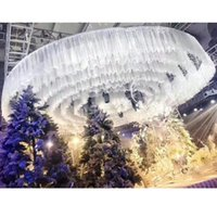colorful tulle DIY Wedding drapes ceiling skirts decoration stage layout T station floating sashes Wedding ceiling yarn backdrops decoration