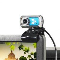 câmera webcam quente venda por atacado-USB Webcam HD Web Câmera 12M Chip e Lente Clareza 3 LED USB Webcam Camera com Mic Night Vision para PC Laptop Azul Venda Quente