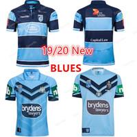 estados de iluminação venda por atacado-2019 Nova Zelândia NSW BLUES Rugby Camisas CASA PRO JERSEY NSW ESTADO DE ORIGEM 2018 TREINAMENTO ELITE LUZ T 2018 RUGBY JERSEY S-5XL