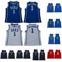 Wholesale basketball jerseys blue for sale - Group buy NCAA Zion Williamson Duke Blue Devils College Jersey RJ Barrett Cameron Reddish Indiana Hoosiers Romeo Langford College Blue White