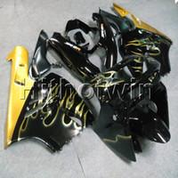 zx9r gold toptan satış-23 renkler + Hediyeler altın alevler Vücut Kiti motosiklet kukuletası Kawasaki ZX9R 1994 1995 1996 1997 ABS Plastik motor kaporta