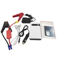 Wholesale portable power bank 12v resale online - CY V Car Jump Starter mAh White Power Bank Mini Multifunctional Starter Portable LED Lighting Car Accessories