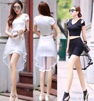 a3fdde0b53b5 Wholesale short dresses black winding for sale - Hot Summer Two Sets V  Collar Short Sleeves