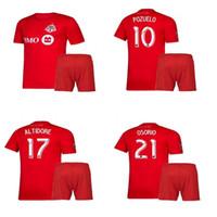 Wholesale toronto jersey boys resale online - 2020 Toronto FC Kid Kits MLS BRADLEY POZUELO Child Soccer Jersey Short OSORIO ALTIDORE Boys Football Shirts