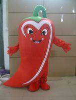 disfraz de mascota de verduras al por mayor-Halloween pimiento rojo traje de la mascota de alta calidad de dibujos animados chili verduras personaje del tema del animado fiesta de carnaval de Navidad disfraces
