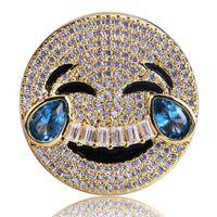 ingrosso imitazione di diamanti porcellana-Emoticon Emoji borsa personalità anello di moda hip hop pantaloni a vita bassa produttori di uomini trasporto veloce