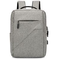 Wholesale business computer travel bag resale online - Business Computer Backpack Usb Rechargeable Backpack Waterproof Large Capacity Travel Bag Student Bag