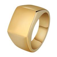 anillos de boda para hombre chapados en oro al por mayor-Joyería de moda Anillo para hombre Joyería de hip hop Acero inoxidable Iced Out Gold Plated Luxury Men Wedding Band O Ring