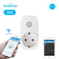 широкополосный интеллектуальный коммутатор оптовых-Broadlink SP3 EU / SP3S Plug Wi-Fi Розетка Сетевой выключатель Беспроводное приложение Пульт дистанционного управления Переключатель для Smart Home Automation