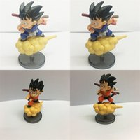 Wholesale toys online - Goku Anime Figures Yan Du Yun Car Ornament Dragon Ball Figma Red Blue Cm Cute Decorative jd D1