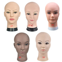 Wholesale mannequins for makeup practice for sale - Group buy Bald Mannequin Head With Clamp Female Mannequin Head For Wig Making Hat Display Cosmetology Manikin For Makeup Practice
