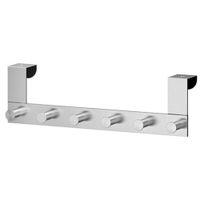 бар для ванной комнаты оптовых-Stainless Steel Rack Door Back Bathroom Removable Clothes Hat Hook Hanger Bar
