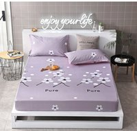 Wholesale purple bedding king size for sale - Gray Flower pc Fitted Sheet and case Mattress Cover Linens With Elastic Band Twin Double single Queen Size Bed Sheets
