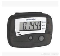 medidor de pasos al por mayor-Medidor portátil de calorías del contador de paso de plástico digital LCD podómetro fácil de leer Caminar Correr odómetro Popualr 2 9bh gg