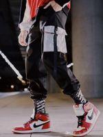 ingrosso tasca baguette di sweatpants-Tasche cargo Harem pantaloni da uomo casual jogging Baggy Trousers tattico Harajuku Streetwear Hip Hop Moda pantaloni della tuta maschile