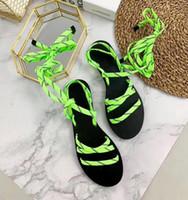sandalias de color plano al por mayor-4A Calidad Mujeres BL Sandalias de Lujo de Lujo Banda Estrecha Hebilla Pisos de Cuero Genuinos Mocasines Zapatos de Vestir Bowtie Mix Color Mocasines Casuales