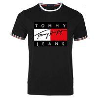 4xl unterhemden großhandel-2019 Sommer neues T-Shirt kurzarm Herren mit breitem Kragen einfarbig Baumwollunterhemd unter T-Shirt Kragenoberteil