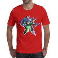 grüne übermenschhemden großhandel-Superman Batman Flash Green Laterne Herren T-Shirts Rundhals Kurzarm T-Shirts Oberteile rot