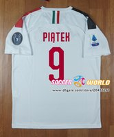 Wholesale jersey 3xl for sale - Group buy New Ac Milan soccer jersey away PIATEK CALHANOGLU CUTRONE BONAVENTURA ROMAGNOLI soccer shirts Top quality size S XL