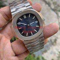melhor relógio mens mecânico venda por atacado-Melhor Azul Qualidade Dial 9015 324C Movimento Sapphire pulso 40mm Nautilus 5711 Mechanical Transparente Mens Automatic Watch Watches