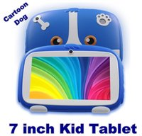 ingrosso migliori androids compresse-2020 7 pollici nuovo fumetto Tablet Dog Bambini Learning Pc Android 4.4 Quad Core installati migliori regali per i bambini Pc Tablets 512MB + 8GB