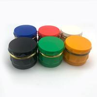 Wholesale herb spice hand grinder resale online - 60mm Herb Grinder layers Hard Plastic Crusher Herbal Spice Drum Grinders Tobacco Storage Case Mini Keep on hand