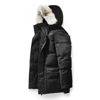Wholesale winter parkas for men resale online – Canada Warm Manteau Fur Hooded Thick Winter Men Goose Down Jacket for Canada Male Emory Parka Overcoat Man Outwear Parka
