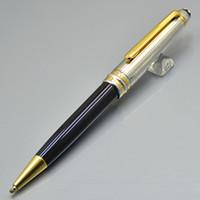 marka kalem satışı toptan satış-Sıcak satış - Yüksek kaliteli Meisterstcek 163 Tükenmez kalem Tükenmez kalemler Monte Kırtasiye Markalar Seri numarası ile Kırtasiye ofis okul malzemeleri XY2006108