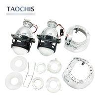 lente xenon universal venda por atacado-TAOCHIS LHD 1.8 polegadas Universal HID Mini Bi-xénon Lente Do Projetor H1 H4 H7 com Luzes de Cabeça de mortalha H1 Xenon Lâmpada 9005 9006