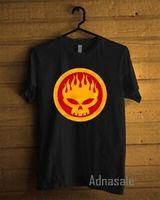 dessins de cou de bande achat en gros de-Nouveau Design The Offspring RoO-cou Bande Logo T-shirt BlaO-Cou Hommes Taille Personnalisée S 2XL