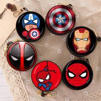 monederos para niños al por mayor-El Vengadores Iron Man Capitán América Mini Monedero Marvel Spiderman Toy Monedero niños y regalo de DHL