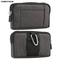 Wholesale phone pouch cloth online – custom Waist Pack Phone Pouch for xiaomi redmi note pro mi max mi8 a2 PocoPhone F1 redmi5 x Belt Clip Cowboy Cloth Casual Waist Bags