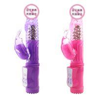 ingrosso vibratore rotativo a punto g-Danzayi 10 modi rotante coniglio vibratore stimolatore clitoride g spot dildo vibratore giocattoli del sesso per donna massaggiatore prodotti del sesso av013