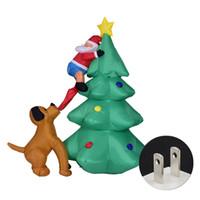 grandes luzes de natal venda por atacado-Escalada Bit cão da árvore LED grande ornamento da noite inflável partido Modelo Papai Noel Luz Natal dos desenhos animados Home Decor Festival